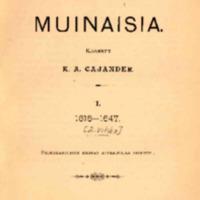Uudenkaupungin muinaisia 1 : 1616-1647 : 2. vihko