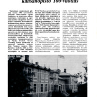 Länsi-Suomen opisto - Vanhin suomenkielinen kansanopisto 100-vuotias
