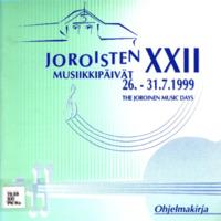 Joroisten musiikkipäivien käsiohjelma 1999