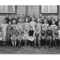 Kumpuselän koulun oppilaita 1938