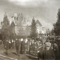 Vanhoja kuvia Pukkilan kirkosta