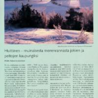 Huittinen - muinaisesta merenrannasta jokien ja peltojen kaupungiksi