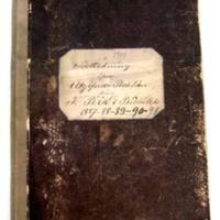 Förteckning öfver utgifna boklån 1887-1891
