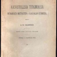 Kasvistollisia tutkimuksia Mynämäen, Mietoisten ja Karjalan kunnissa