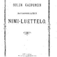 Oulun kaupungin kansankirjaston nimi-luettelo