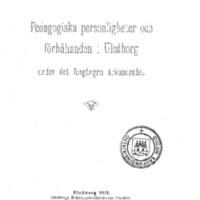 Pedagogiska personligheter och förhållanden i Uleåborg under det förgängna århundradet