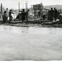 Ohitustien sillan rakentamisvaihe kirkonkylän kohdalla