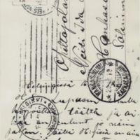 Eino Heljon lähettämät postikortit Ida-sisarelle 1908 ja 1912