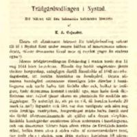 Trädgårdsodlingen i Nystad : ett bidrag till den inhemska kulturens historia
