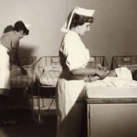 Orimattilan kunnansairaalan synnytysosasto vuonna 1963