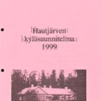 Hautjärven kyläsuuunitelma 1999