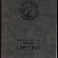 Turun taideyhdistyksen kokoelmain luettelo