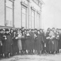 Iisalmen yhteiskoulun 5. luokka vuonna 1925